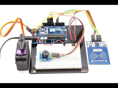 Контроль доступом на основе считывателя RFID RC522, Arduino и Servo
