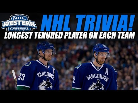 NHL Trivia! - Longest Tenured Player on Each NHL Team (West)