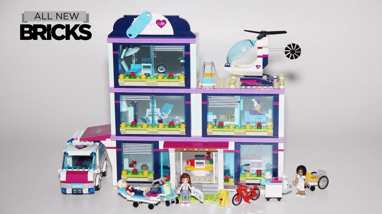 Lego Friends 41318 Heartlake Hospital Speed Build Youtube
