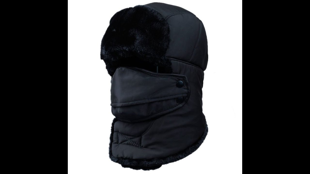 Unisex Winter Trapper Hat with Windproof Breathable Mask - YouTube e89b51794e6