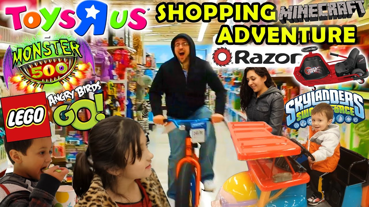 Toys R Us Family Shopping Adventure Razor Crazy Cart