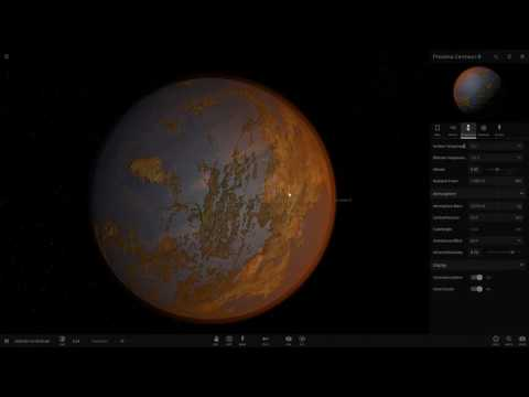 Proxima Centauri b Exoplanet - Recreated/Terraformed in Universe Sandbox²