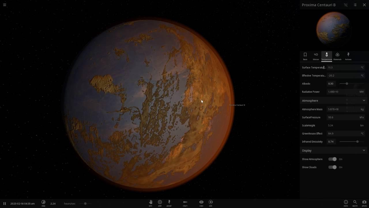 Ross 128 B >> Proxima Centauri b Exoplanet - Recreated/Terraformed in Universe Sandbox² - YouTube