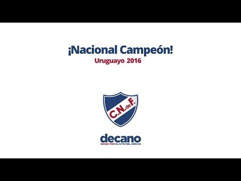 ¡Nacional Campeón Uruguayo 2016!