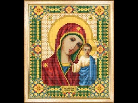 Вышивка бисером: икона Божьей