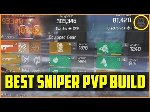 The Division - BEST Sniper PVP Build 1.6 + gameplay (DeadEYE)