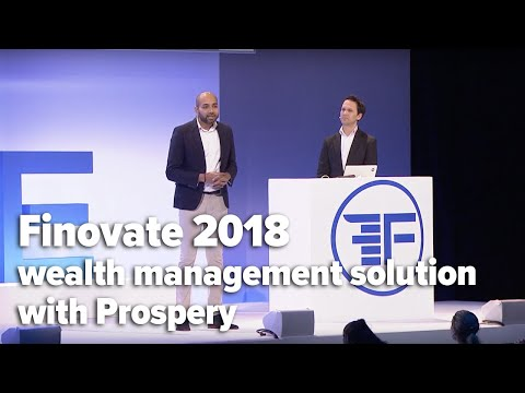 five°degrees' wealth management solution with Prospery @FinovateEurope 2018