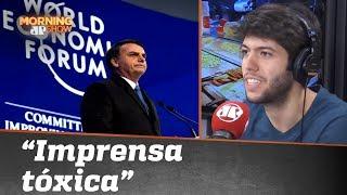 """Bolsonaro foi tão mal em Davos, como os críticos dizem? Coppolla fala em """"imprensa tóxica"""""""