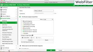 fortigate webfilter, block website