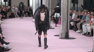 Models on the runway for the Ann Demeulemeester Menswear Fashion Show in Paris