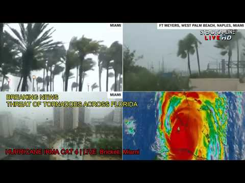 Video 3 of the HURRICANE IRMA COVERAGE LIVE CAMS FROM MIAMI | flood and destruction