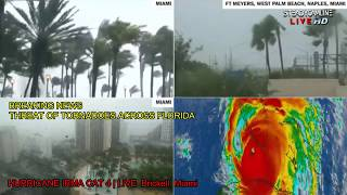 Video 3 of the HURRICANE IRMA COVERAGE LIVE CAMS FROM MIAMI   flood and destruction