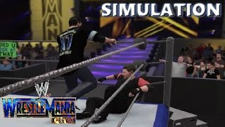 WWE 2K16 SIMULATION: Shane McMahon vs Vince Mcmahon | Wrestlemania 17 Highlights