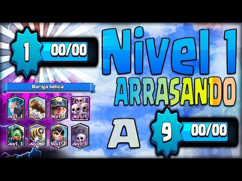 ¡¡ NIVEL 1 CON 7 LEGENDARIAS ARRASANDO NIVELES 9 !! JUEGO SU MAZO!! - Clash Royale [WithZack]