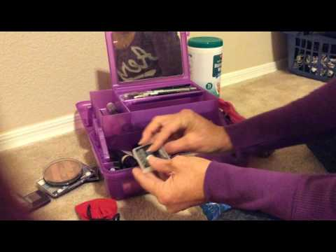 ASMR Makeup Cleaning Organizing My Makeup Case (no Talking)