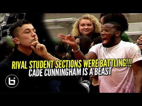 """RIVAL STUDENT SECTIONS WERE BATTLING!"" Cade Cunningham Is One Skilled 10th Grader!"