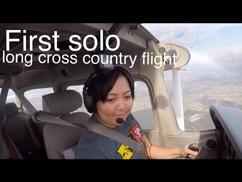 First Solo Long Cross Country Flight - ATC AUDIO