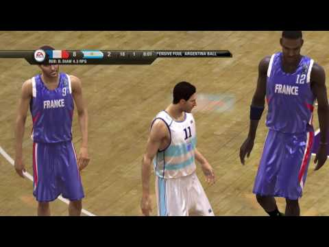 NBA Live 08 FIBA World Championship RD 1 France vs Argentina