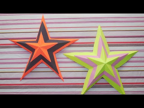 | Simple || Easy || 3D || Paper Star || DIY || Paper craft |