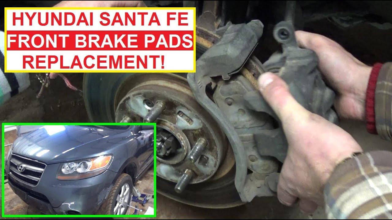 Front brake pads replacement on hyundai santa fe 2006 2007 2008 2009 2010 2011 2012 youtube