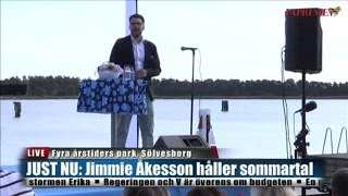 Jimmie Åkesson (SD) Sommartal 2015-08-29 Sverigedemokraterna