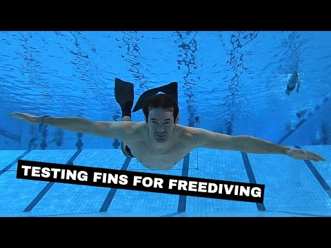 Buying new fins for freediving and testing them In the pool - underwater gear
