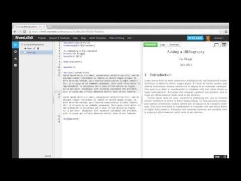LaTeX Tutorial pt 5 - Bibliographies and Natbib