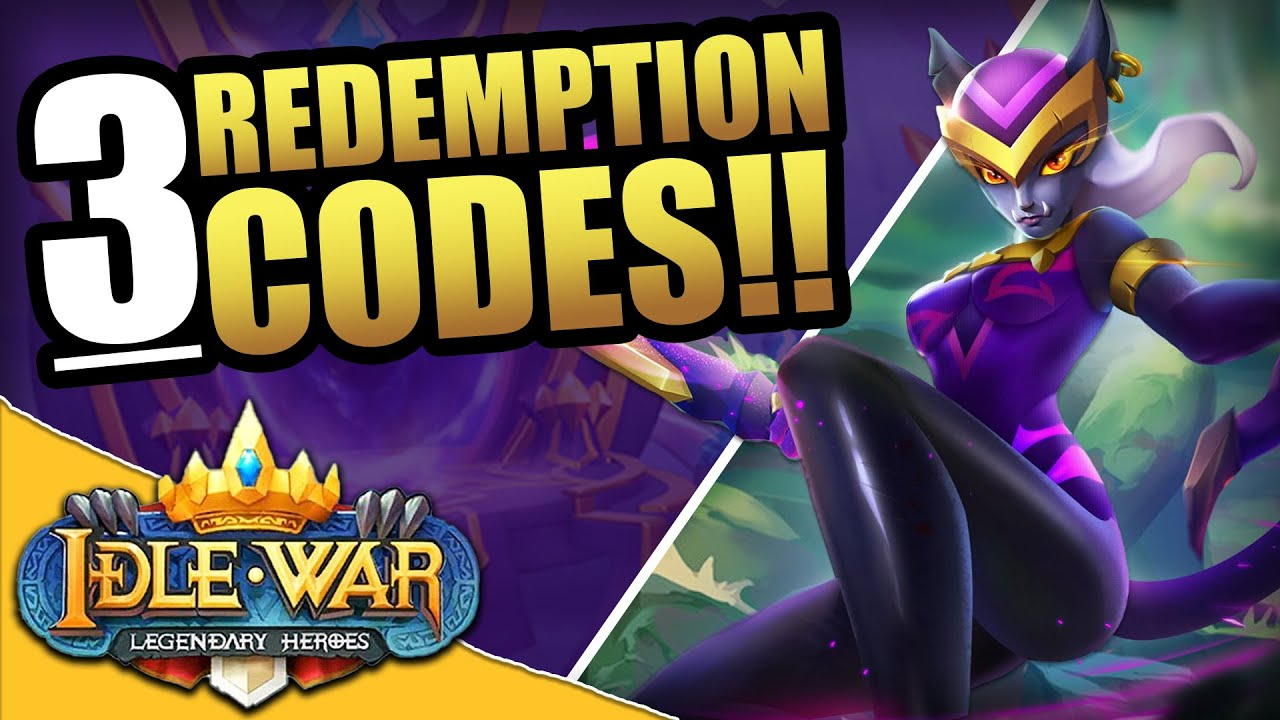 THREE Redemption Codes! - Idle War: Legendary Heroes - YouTube
