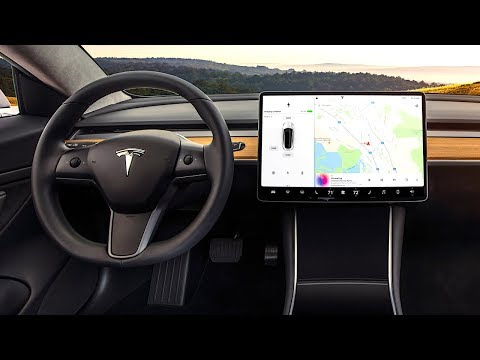 Tesla Model 3 INTERIOR Review In Detail Tesla 3 Interior Video CARJAM TV HD