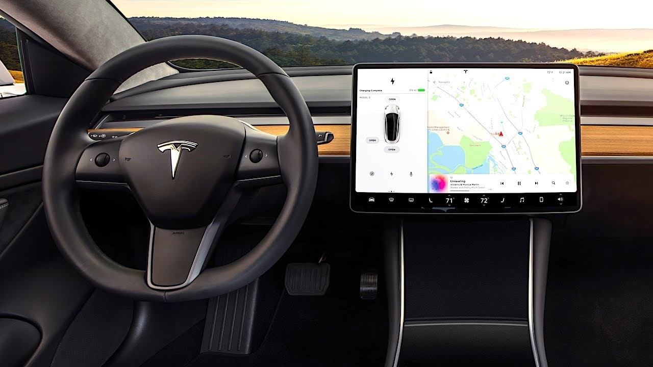 Tesla model 3 interior review in detail tesla 3 interior for Tesla model 3 interieur