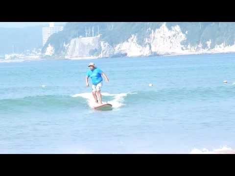 夏の思い出2013 御宿岩和田ロングボードサーフィン太ってるけど