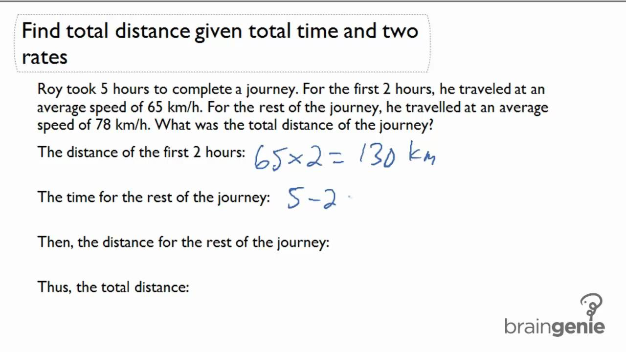 hight resolution of Distance Word Problems (video lessons