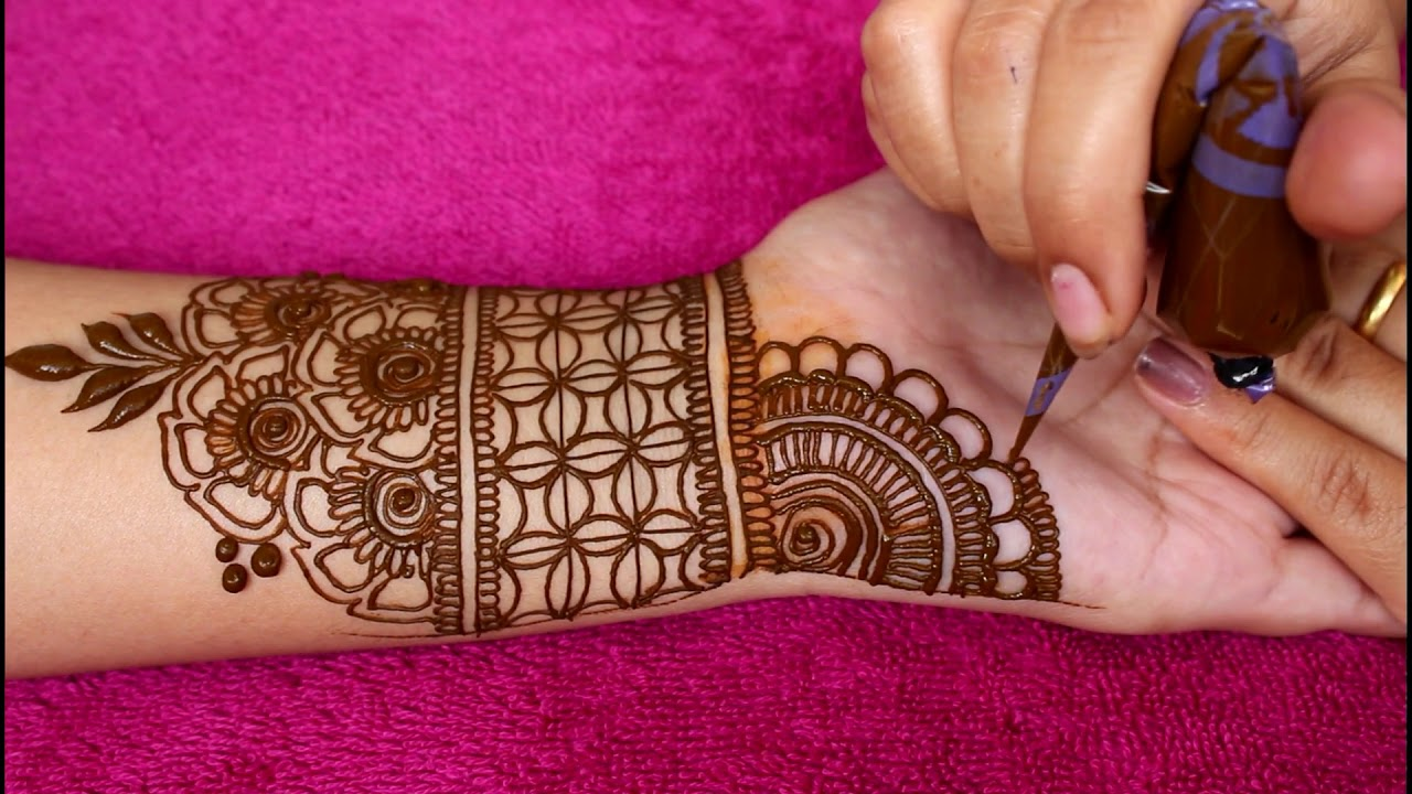 mehndi designs for full hands simple and easy