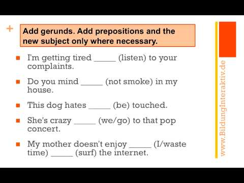 Gerund or Infinitive - some exercises - YouTube
