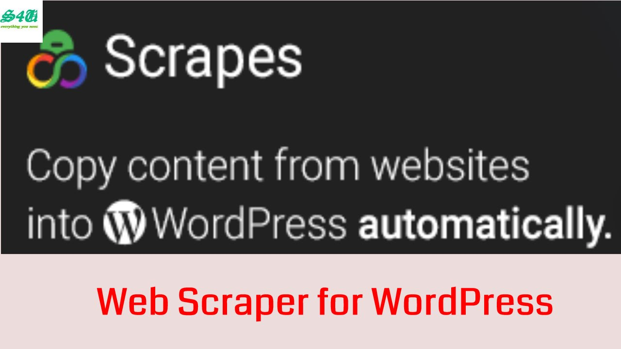 Scrapes -Web scraper plugin Installation for WordPress