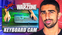Playing WARZONE With KEYBOARD CAM! (PC Handcam)