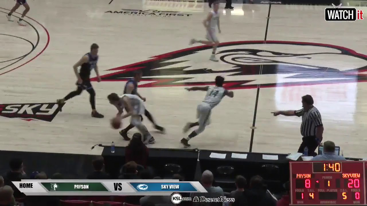 4A Boys Basketball: Sky View vs Payson High School UHSAA 2019 State  Tournament Semifinals