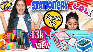 MYSTERY BOX OF BACK TO SCHOOL SWITCH-UP CHALLENGE ||