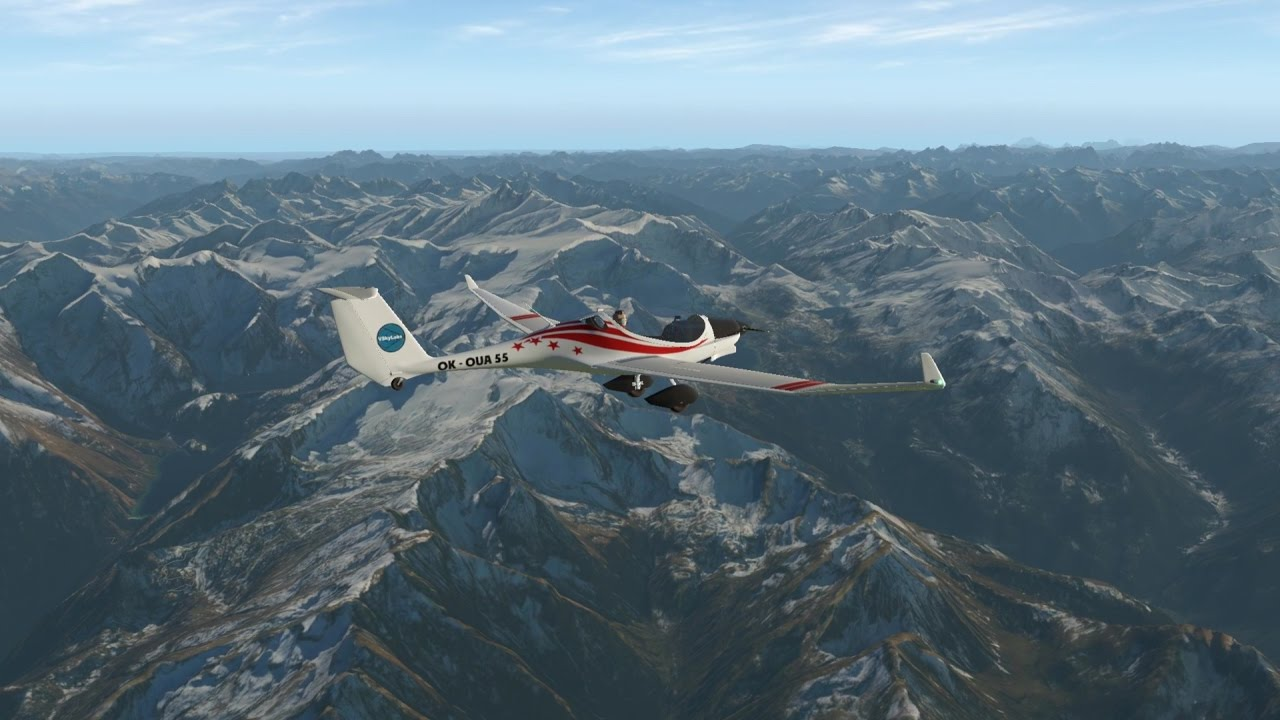 X Plane 11 Vskylabs Phoenix Motor Glider Youtube