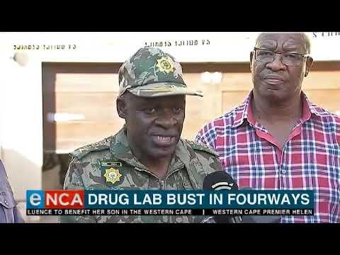 Drug lab bust in Fourways