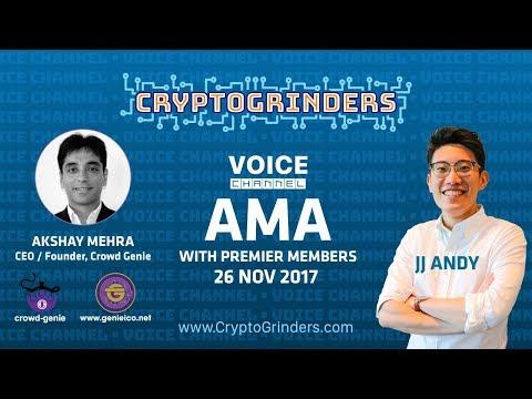 ICO: Crowd Genie Live AMA with Akshay Mehra (CEO/Co-Founder)