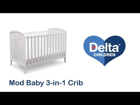 Delta Children Mod Baby 3-in-1 Crib