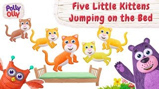 Five Little Kitten Jumping | Nursery Rhymes | Cartoon for kids