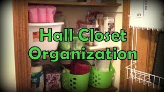 Organization - Hall Closet (using Dollar Tree Items!)