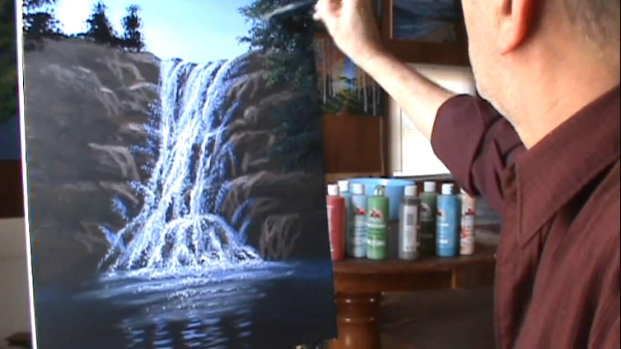 Come dipingere cascata acrilici breve video  YouTube