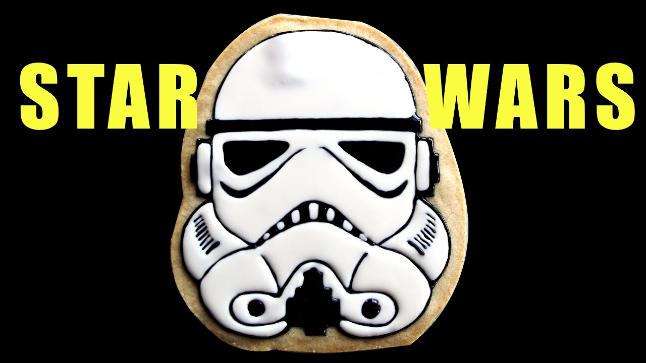Star Wars Stormtrooper Cookie Icing Cake Topper How To