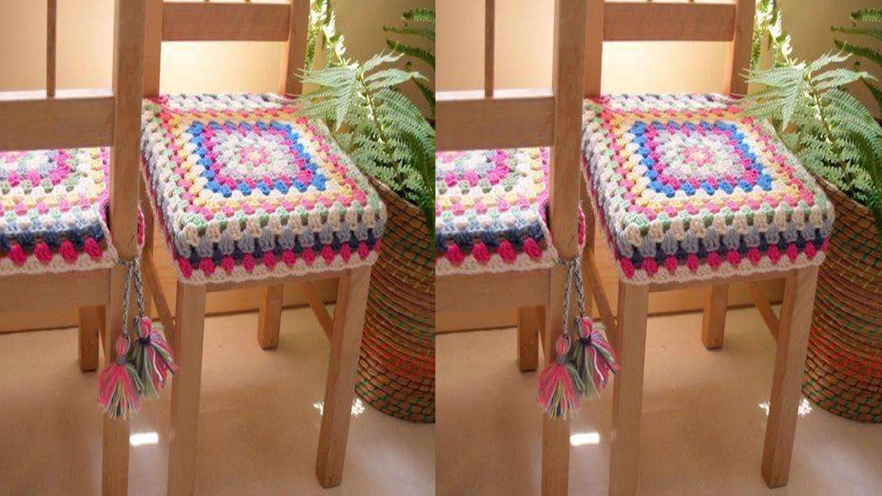 Fundas a crochet para sillas n 07 youtube for Fundas para sillas comedor