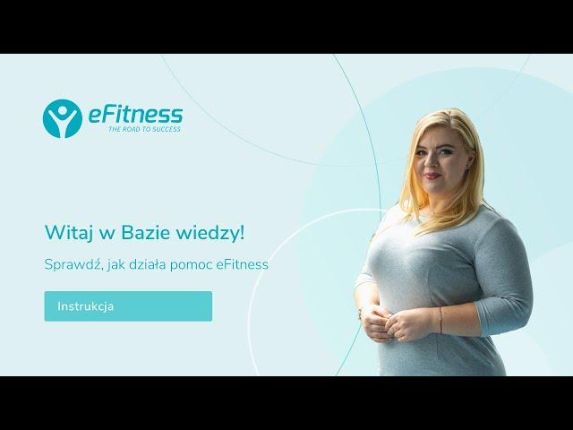 Witaj w Bazie wiedzy eFitness!