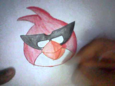 Como dibujar el pájaro rojo de angry birds space (how to draw red ...