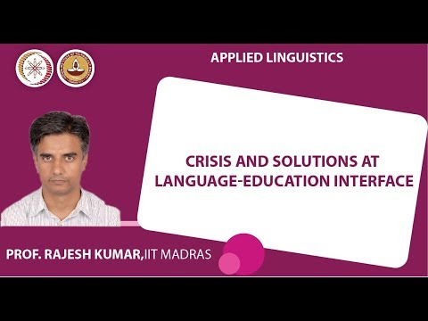 Lecture 1  _ Crisis and solutions at language-education interface